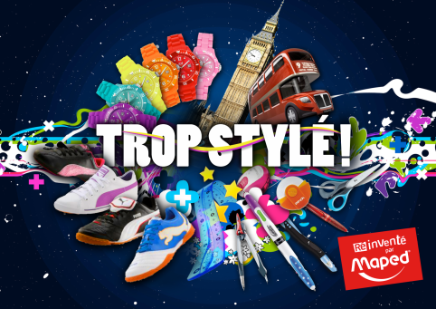 "MAPED - PLV promo ""Trop stylé"""