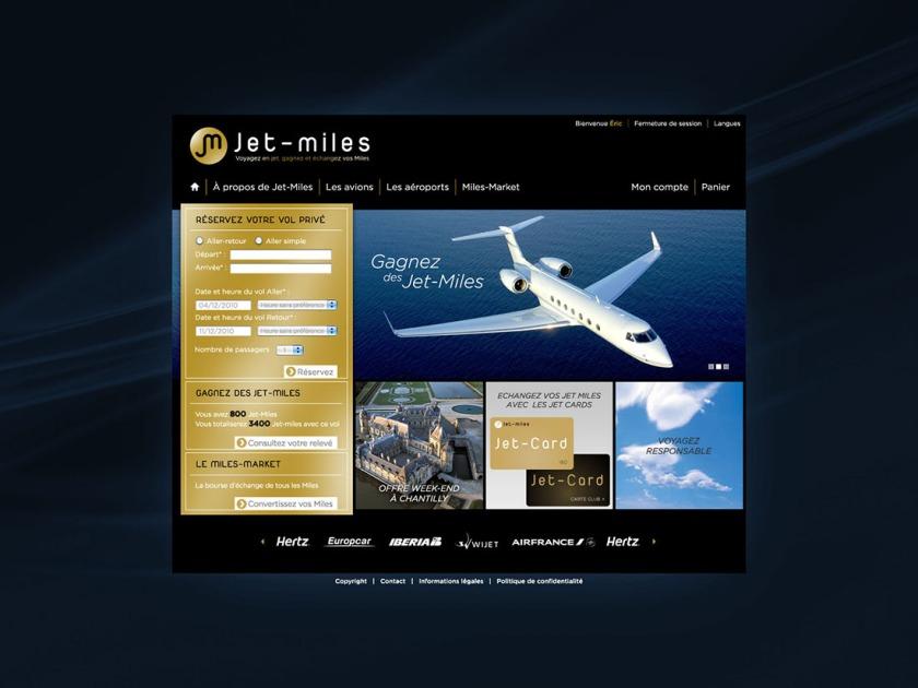 JET MILES - Site de réservation de jets privés