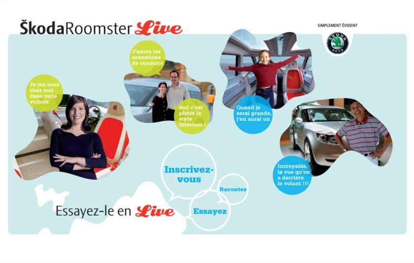 """SKODA - Site de lancement du """"Roomster"""""""