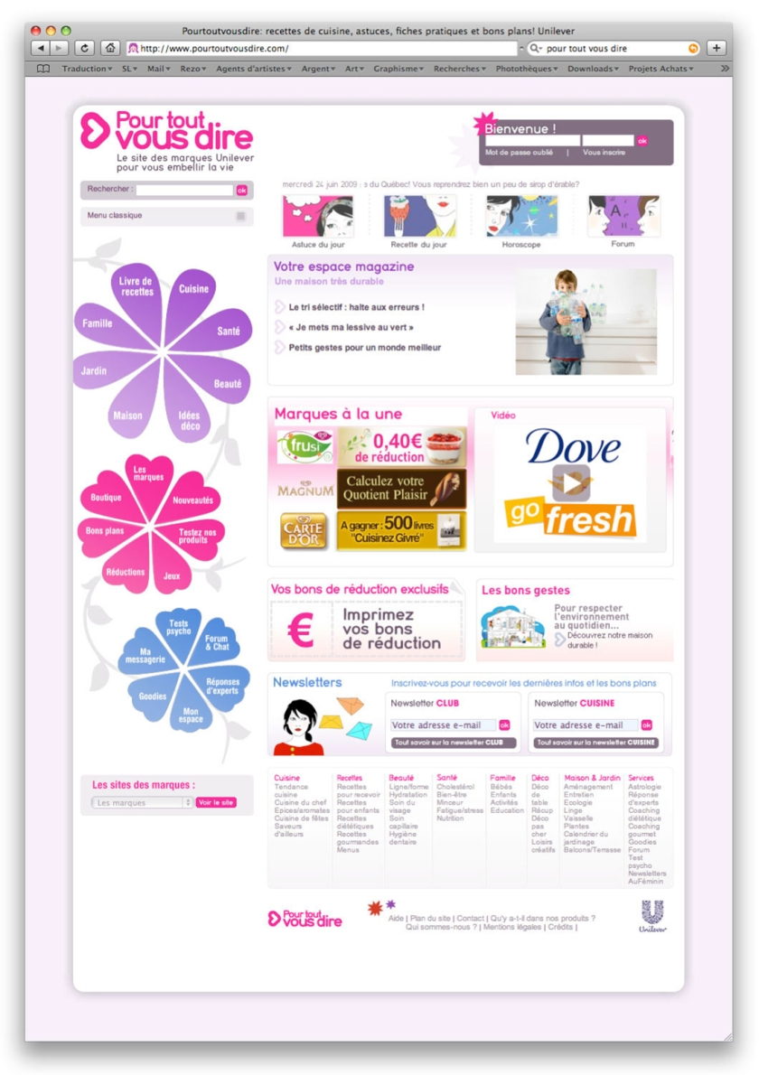 UNILEVER - Home site relationnel