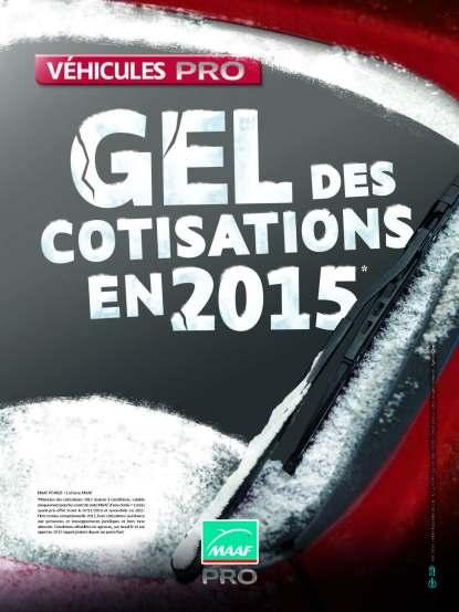 Opération gel des cotisations MAAF - Affiche vitrine pros